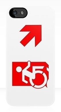 Accessible Exit Sign Project Wheelchair Wheelie Running Man Symbol Means of Egress Icon Disability Emergency Evacuation Fire Safety iPhone Case 138