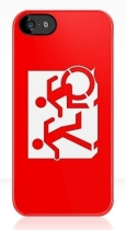 Accessible Exit Sign Project Wheelchair Wheelie Running Man Symbol Means of Egress Icon Disability Emergency Evacuation Fire Safety iPhone Case 14