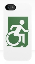 Accessible Exit Sign Project Wheelchair Wheelie Running Man Symbol Means of Egress Icon Disability Emergency Evacuation Fire Safety iPhone Case 141