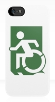 Accessible Exit Sign Project Wheelchair Wheelie Running Man Symbol Means of Egress Icon Disability Emergency Evacuation Fire Safety iPhone Case 143