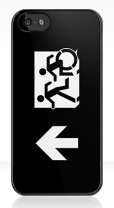 Accessible Exit Sign Project Wheelchair Wheelie Running Man Symbol Means of Egress Icon Disability Emergency Evacuation Fire Safety iPhone Case 144