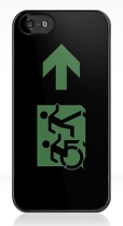 Accessible Exit Sign Project Wheelchair Wheelie Running Man Symbol Means of Egress Icon Disability Emergency Evacuation Fire Safety iPhone Case 15