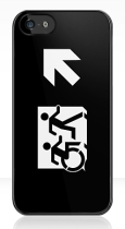 Accessible Exit Sign Project Wheelchair Wheelie Running Man Symbol Means of Egress Icon Disability Emergency Evacuation Fire Safety iPhone Case 152