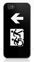 Accessible Exit Sign Project Wheelchair Wheelie Running Man Symbol Means of Egress Icon Disability Emergency Evacuation Fire Safety iPhone Case 156