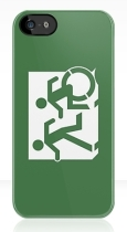 Accessible Exit Sign Project Wheelchair Wheelie Running Man Symbol Means of Egress Icon Disability Emergency Evacuation Fire Safety iPhone Case 157