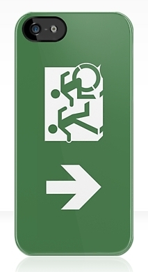 Accessible Exit Sign Project Wheelchair Wheelie Running Man Symbol Means of Egress Icon Disability Emergency Evacuation Fire Safety iPhone Case 158