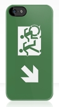 Accessible Exit Sign Project Wheelchair Wheelie Running Man Symbol Means of Egress Icon Disability Emergency Evacuation Fire Safety iPhone Case 159