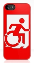 Accessible Exit Sign Project Wheelchair Wheelie Running Man Symbol Means of Egress Icon Disability Emergency Evacuation Fire Safety iPhone Case 162