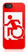 Accessible Exit Sign Project Wheelchair Wheelie Running Man Symbol Means of Egress Icon Disability Emergency Evacuation Fire Safety iPhone Case 163