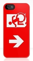 Accessible Exit Sign Project Wheelchair Wheelie Running Man Symbol Means of Egress Icon Disability Emergency Evacuation Fire Safety iPhone Case 164