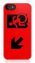Accessible Exit Sign Project Wheelchair Wheelie Running Man Symbol Means of Egress Icon Disability Emergency Evacuation Fire Safety iPhone Case 165