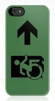Accessible Exit Sign Project Wheelchair Wheelie Running Man Symbol Means of Egress Icon Disability Emergency Evacuation Fire Safety iPhone Case 17