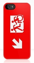 Accessible Exit Sign Project Wheelchair Wheelie Running Man Symbol Means of Egress Icon Disability Emergency Evacuation Fire Safety iPhone Case 18