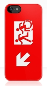Accessible Exit Sign Project Wheelchair Wheelie Running Man Symbol Means of Egress Icon Disability Emergency Evacuation Fire Safety iPhone Case 19
