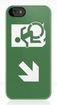 Accessible Exit Sign Project Wheelchair Wheelie Running Man Symbol Means of Egress Icon Disability Emergency Evacuation Fire Safety iPhone Case 20