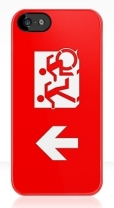 Accessible Exit Sign Project Wheelchair Wheelie Running Man Symbol Means of Egress Icon Disability Emergency Evacuation Fire Safety iPhone Case 21