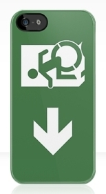 Accessible Exit Sign Project Wheelchair Wheelie Running Man Symbol Means of Egress Icon Disability Emergency Evacuation Fire Safety iPhone Case 22