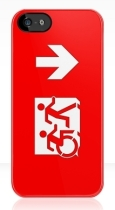 Accessible Exit Sign Project Wheelchair Wheelie Running Man Symbol Means of Egress Icon Disability Emergency Evacuation Fire Safety iPhone Case 23