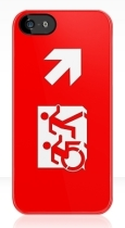Accessible Exit Sign Project Wheelchair Wheelie Running Man Symbol Means of Egress Icon Disability Emergency Evacuation Fire Safety iPhone Case 24