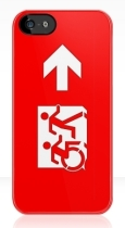 Accessible Exit Sign Project Wheelchair Wheelie Running Man Symbol Means of Egress Icon Disability Emergency Evacuation Fire Safety iPhone Case 26