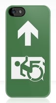 Accessible Exit Sign Project Wheelchair Wheelie Running Man Symbol Means of Egress Icon Disability Emergency Evacuation Fire Safety iPhone Case 28