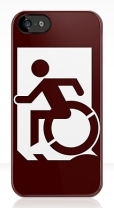 Accessible Exit Sign Project Wheelchair Wheelie Running Man Symbol Means of Egress Icon Disability Emergency Evacuation Fire Safety iPhone Case 33