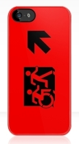 Accessible Exit Sign Project Wheelchair Wheelie Running Man Symbol Means of Egress Icon Disability Emergency Evacuation Fire Safety iPhone Case 34