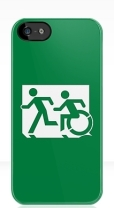 Accessible Exit Sign Project Wheelchair Wheelie Running Man Symbol Means of Egress Icon Disability Emergency Evacuation Fire Safety iPhone Case 39