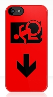 Accessible Exit Sign Project Wheelchair Wheelie Running Man Symbol Means of Egress Icon Disability Emergency Evacuation Fire Safety iPhone Case 40