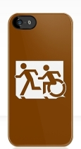 Accessible Exit Sign Project Wheelchair Wheelie Running Man Symbol Means of Egress Icon Disability Emergency Evacuation Fire Safety iPhone Case 41