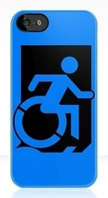 Accessible Exit Sign Project Wheelchair Wheelie Running Man Symbol Means of Egress Icon Disability Emergency Evacuation Fire Safety iPhone Case 4