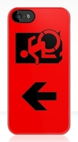 Accessible Exit Sign Project Wheelchair Wheelie Running Man Symbol Means of Egress Icon Disability Emergency Evacuation Fire Safety iPhone Case 42
