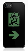 Accessible Exit Sign Project Wheelchair Wheelie Running Man Symbol Means of Egress Icon Disability Emergency Evacuation Fire Safety iPhone Case 44