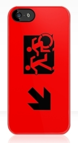 Accessible Exit Sign Project Wheelchair Wheelie Running Man Symbol Means of Egress Icon Disability Emergency Evacuation Fire Safety iPhone Case 48