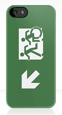 Accessible Exit Sign Project Wheelchair Wheelie Running Man Symbol Means of Egress Icon Disability Emergency Evacuation Fire Safety iPhone Case 5