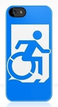 Accessible Exit Sign Project Wheelchair Wheelie Running Man Symbol Means of Egress Icon Disability Emergency Evacuation Fire Safety iPhone Case 50