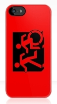 Accessible Exit Sign Project Wheelchair Wheelie Running Man Symbol Means of Egress Icon Disability Emergency Evacuation Fire Safety iPhone Case 51