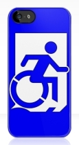 Accessible Exit Sign Project Wheelchair Wheelie Running Man Symbol Means of Egress Icon Disability Emergency Evacuation Fire Safety iPhone Case 52