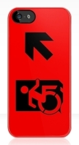 Accessible Exit Sign Project Wheelchair Wheelie Running Man Symbol Means of Egress Icon Disability Emergency Evacuation Fire Safety iPhone Case 53