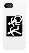 Accessible Exit Sign Project Wheelchair Wheelie Running Man Symbol Means of Egress Icon Disability Emergency Evacuation Fire Safety iPhone Case 54