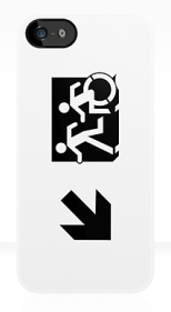 Accessible Exit Sign Project Wheelchair Wheelie Running Man Symbol Means of Egress Icon Disability Emergency Evacuation Fire Safety iPhone Case 55