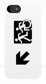 Accessible Exit Sign Project Wheelchair Wheelie Running Man Symbol Means of Egress Icon Disability Emergency Evacuation Fire Safety iPhone Case 56