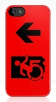 Accessible Exit Sign Project Wheelchair Wheelie Running Man Symbol Means of Egress Icon Disability Emergency Evacuation Fire Safety iPhone Case 57