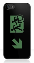 Accessible Exit Sign Project Wheelchair Wheelie Running Man Symbol Means of Egress Icon Disability Emergency Evacuation Fire Safety iPhone Case 58