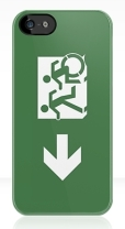 Accessible Exit Sign Project Wheelchair Wheelie Running Man Symbol Means of Egress Icon Disability Emergency Evacuation Fire Safety iPhone Case 6
