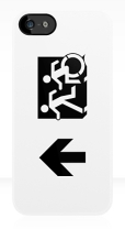 Accessible Exit Sign Project Wheelchair Wheelie Running Man Symbol Means of Egress Icon Disability Emergency Evacuation Fire Safety iPhone Case 60