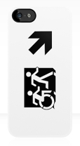 Accessible Exit Sign Project Wheelchair Wheelie Running Man Symbol Means of Egress Icon Disability Emergency Evacuation Fire Safety iPhone Case 63