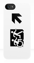 Accessible Exit Sign Project Wheelchair Wheelie Running Man Symbol Means of Egress Icon Disability Emergency Evacuation Fire Safety iPhone Case 64