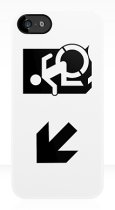 Accessible Exit Sign Project Wheelchair Wheelie Running Man Symbol Means of Egress Icon Disability Emergency Evacuation Fire Safety iPhone Case 65