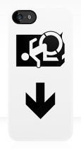 Accessible Exit Sign Project Wheelchair Wheelie Running Man Symbol Means of Egress Icon Disability Emergency Evacuation Fire Safety iPhone Case 66